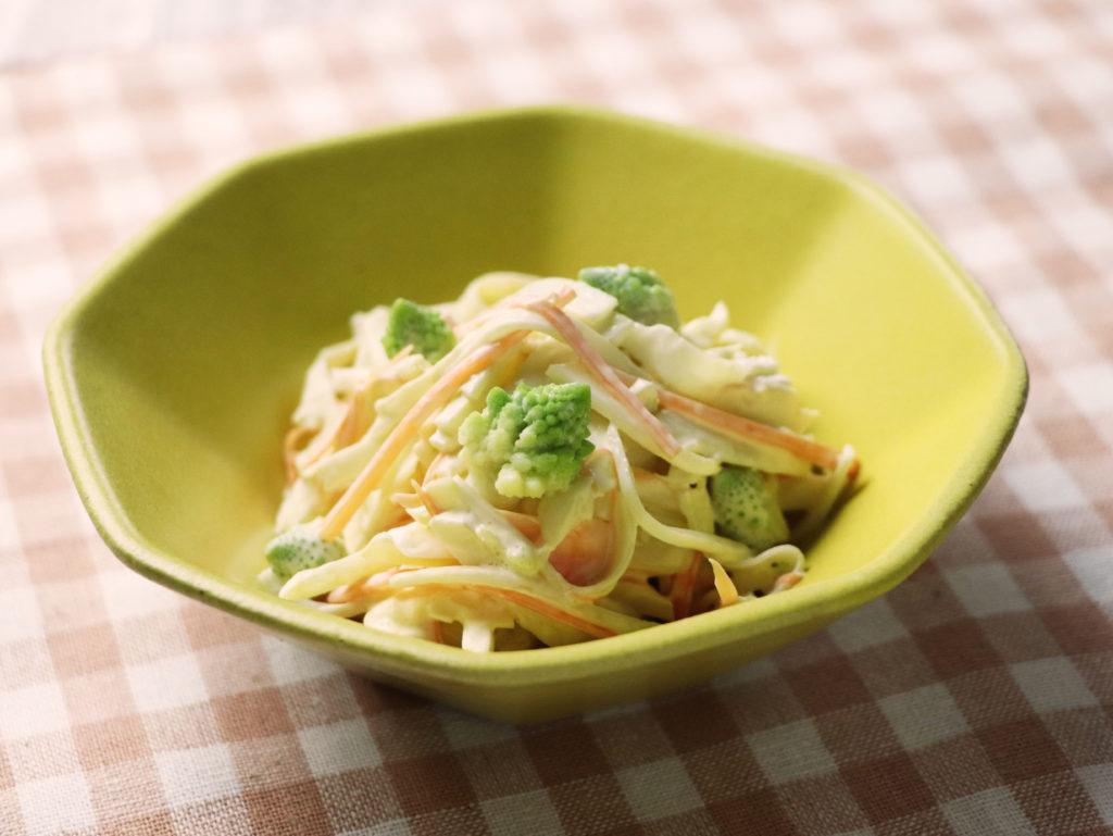 ロマネスコの茎を使ったコールスロー風サラダ