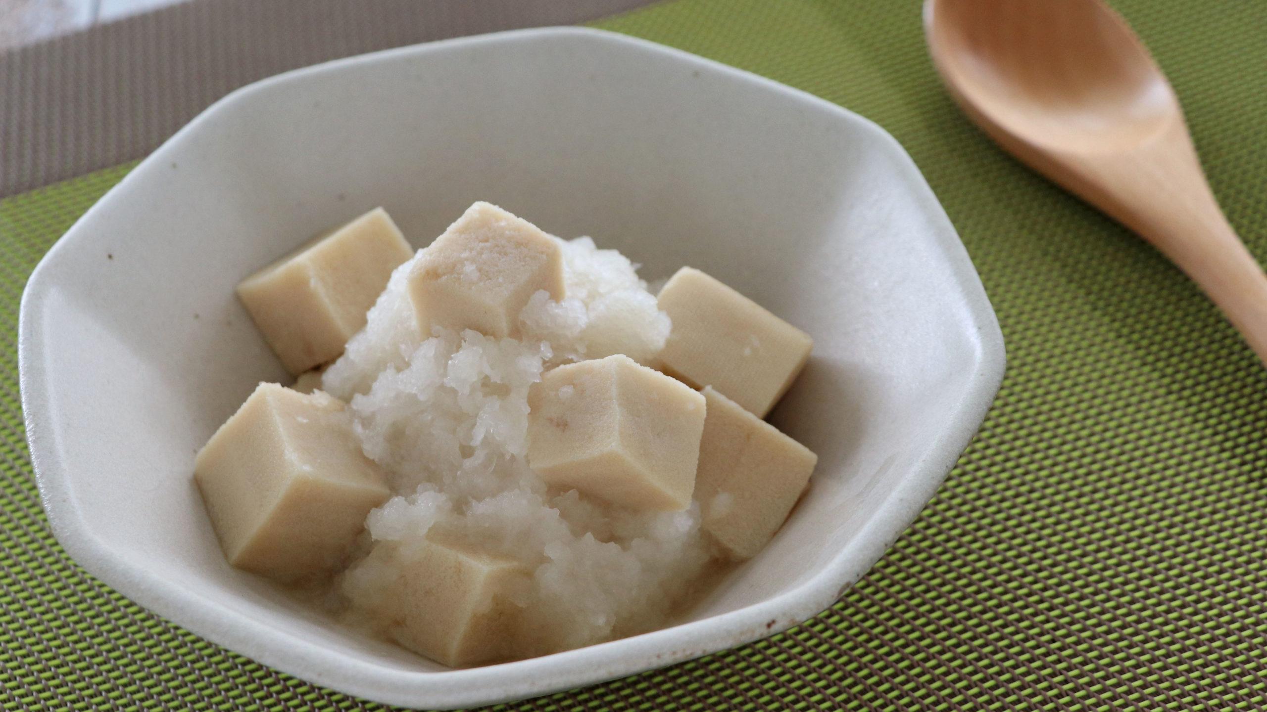 高野豆腐とかぶのみぞれ和えできあがり